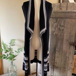 Vince long sweater vest